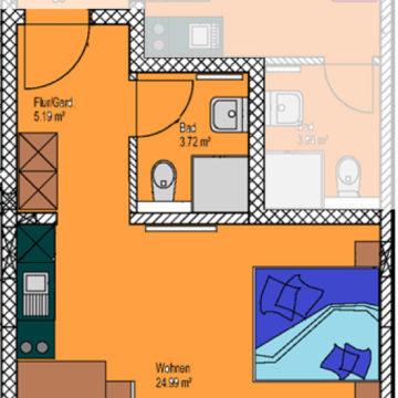 Ein-Zimmer-Appartement Linus